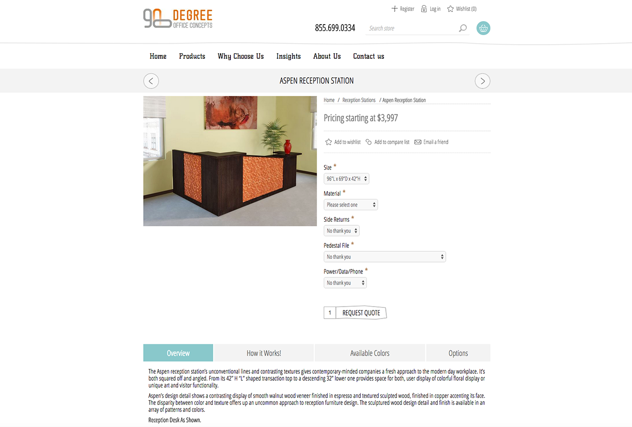 90 Degree Office eCommerce Site