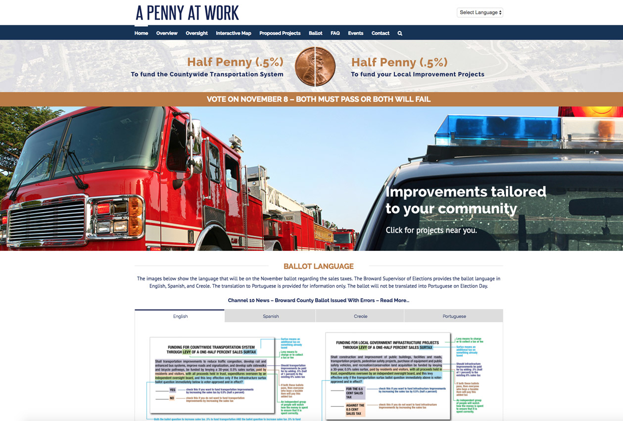 A Penny At Work Website Homepage